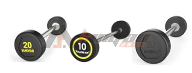 Rubber fixed barbell commercial gym fixed barbell