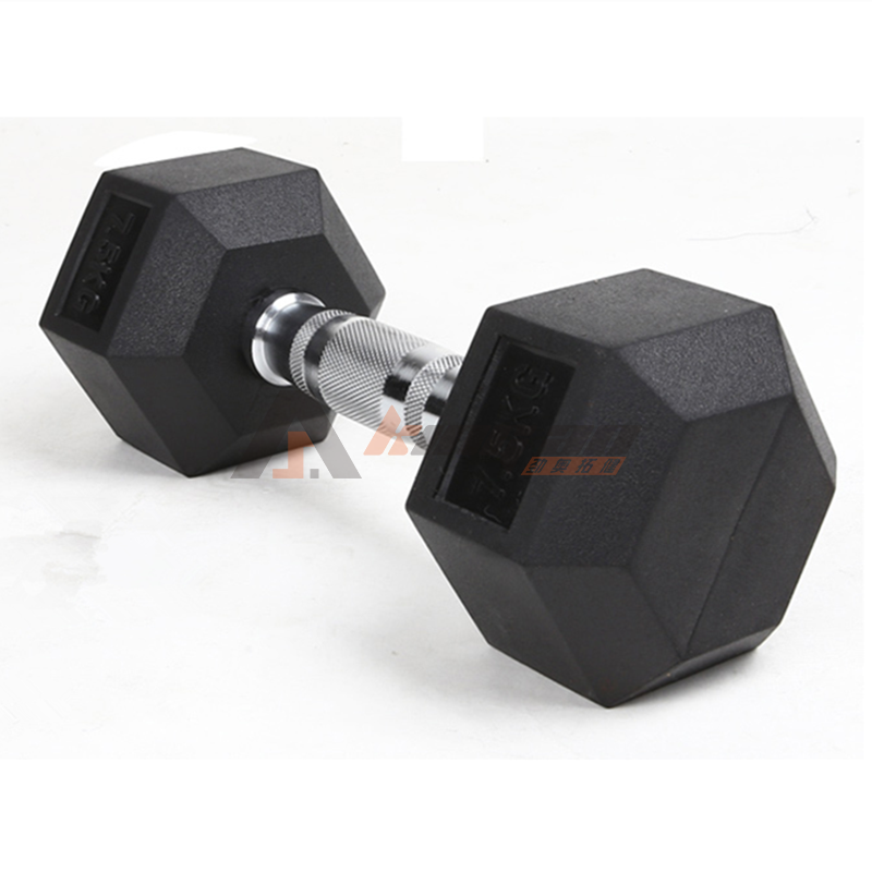Hexagon Rubber Dumbbell
